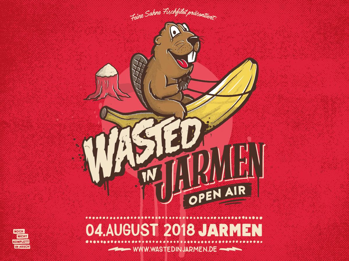 Wasted in Jarmen Open Air 2018 - Der Kartenvorverkauf startet
